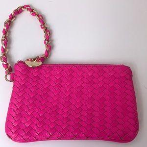 Deux lux hot pink wristlet